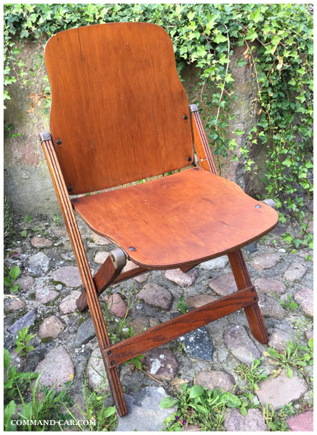 Chair Folding US Army WW American Seating ACME DODGE WC - Car show chairs